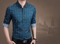NinjApparel - Chequer Shirt - Lake Blue2