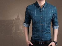 NinjApparel - Chequer Shirt - Lake Blue3