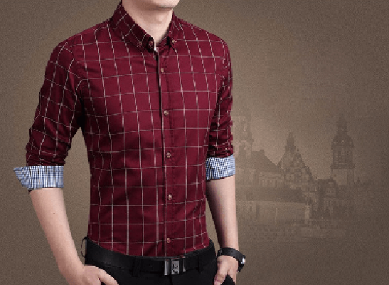 NinjApparel - Chequer Shirt - Wine Red2