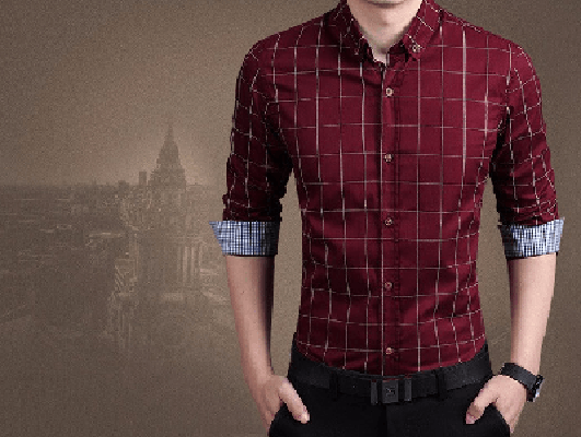 NinjApparel - Chequer Shirt - Wine Red3