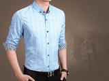 NinjApparel - Chequer Shirt - Light Blue2