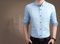 NinjApparel - Chequer Shirt - Light Blue3