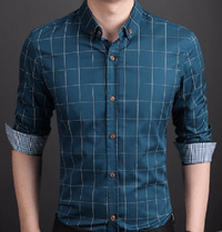 NinjApparel - Chequer Shirt - Lake Blue