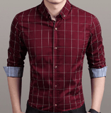 NinjApparel - Chequer Shirt - Wine Red