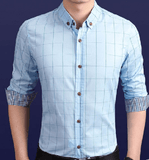 NinjApparel - Chequer Shirt - Light Blue