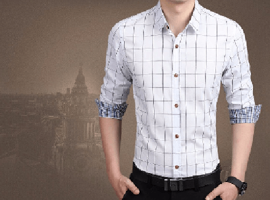 NinjApparel - Chequer Shirt - White 2