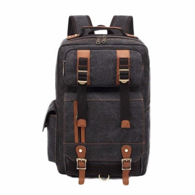 NinjApparel - Vintage Backpack - Black - over