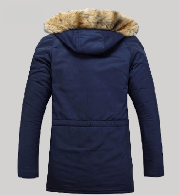 NinjApparel - Modern Eskimo Jacket - Blue Back View