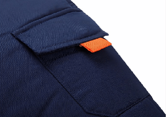 NinjApparel - Modern Eskimo Jacket - Blue Close Up Pocket