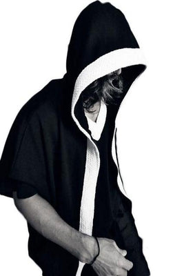 NinjApparel - Hades Hoodie - Side Black and White