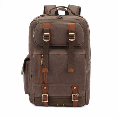 NinjApparel - Vintage Backpack -  Light Coffee