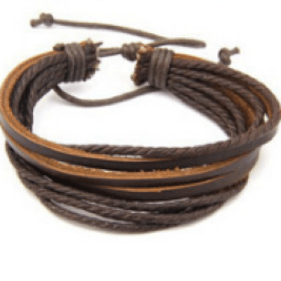 NinjApparel - NinjA Rope Bracelet - Brown