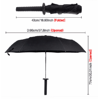 NinjApparel - Samurai Umbrella - Measurements
