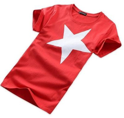 NinjApparel - Shuriken Tee Red Side Angle
