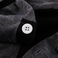 NinjApparel - Summer Assassin Grey w/Black Trim Button