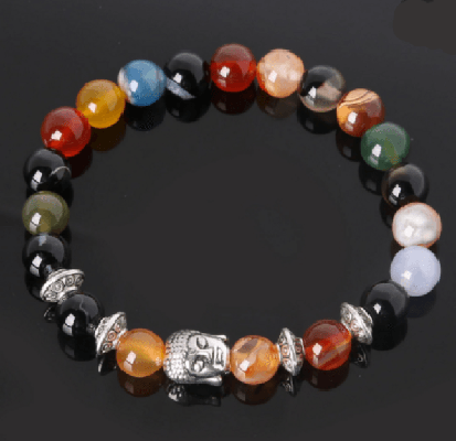 NinjApparel - Zen Bracelet - Colourful Agate