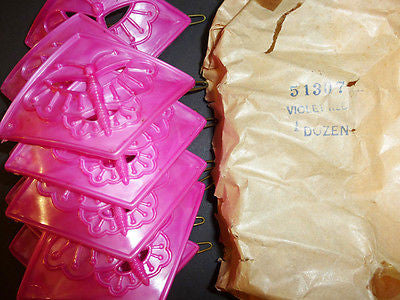 Wholesale Package 12 Bright Pink 1960s Butterfly Hair Grips