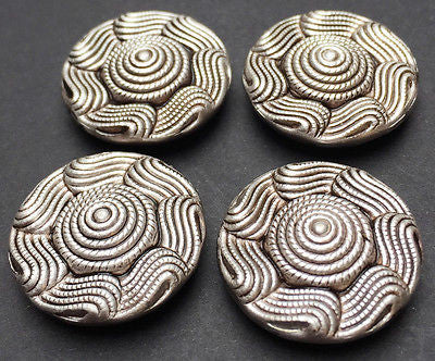 6 Big 2.3cm Impressive (yet rather Strange) Vintage Buttons