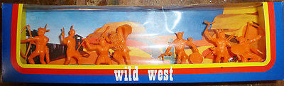 1970s Slovenian MEHANOTEHNIKA Wild West Boxed Indians Unused Old Shop Stock