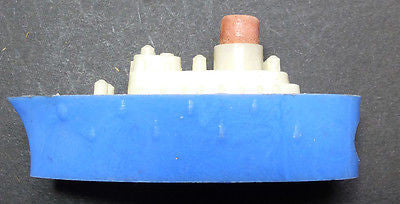 Vintage Steam Ship Pencil Sharpener with Eraser Funnel