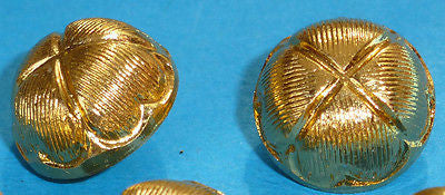 1 gross (144) Wholesale Vintage Gold Lotus Flower 12mm Buttons