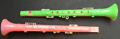 16cm long Vintage Plastic Flute Whistle Made in Hong Kong