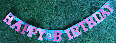 5 ft Long Glorious 1970s HAPPY BIRTHDAY Banner