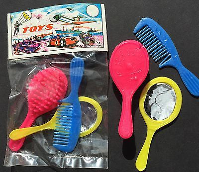 Original Package 1970s Made in Hong Kong Doll Brush Set