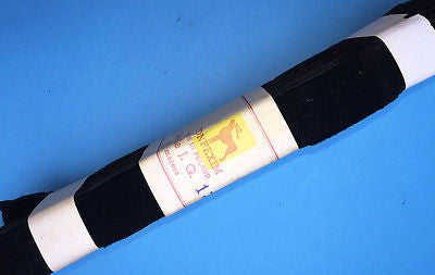 10m of Vintage 2.5cm wide Black Velvet Ribbon Made in Poland