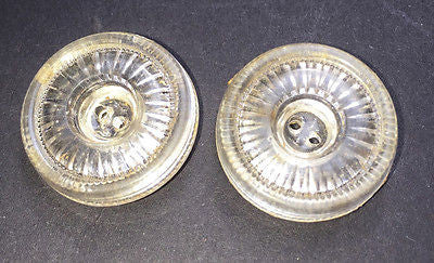 6 Interesting Clear Sparkly Vintage 2cm Buttons