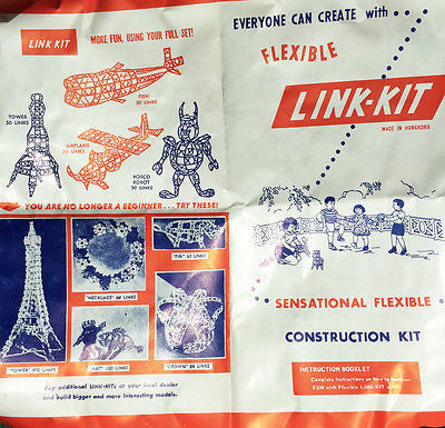Gloriously Ambitious 1950s LINK-KITS Construction Toy