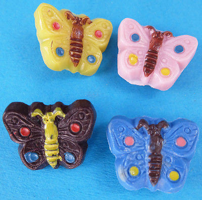 HELLO Summer... 5 Vintage Italian Butterfly Buttons Choice of Colours