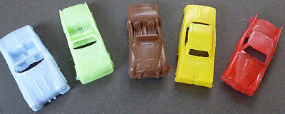 5 Vintage 1960s Cars 5cm Old Shop Stock Made in Hong Kong