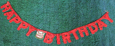 1950s Log Shaped  5ft  HAPPY BIRTHDAY Banner.. Environmentally Friendly !