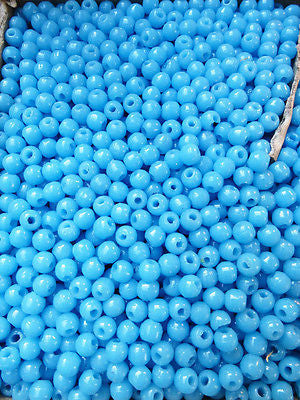 5000 Baby Blue Vintage Czech 5mm Glass Beads
