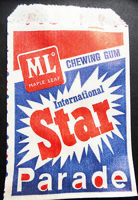 Unused 1970s INTERNATIONAL STAR PARADE Chewing Gum Bags- 10 of them...
