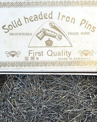 "1lb Vintage German 1"" Solid Headed Iron Pins"