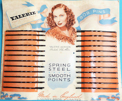 1940s VALERIE HOBSON Film Star + Wife of John Profumo.. Hair Bob Pins