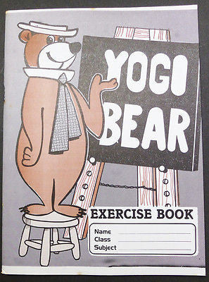 1970s YOGI BEAR School Exercise Book