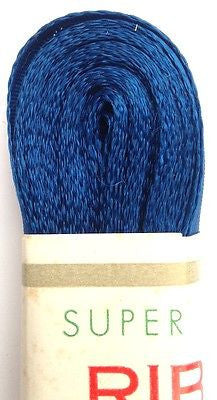 Vintage Blue Ribbon-10m long Choice of colour + width 9mm - 4cm
