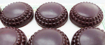 12 Bakelite Brown Buttons- 2.2 or 18cm - on Original Display - Card Made in England