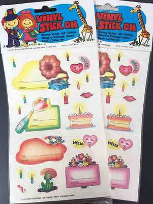 2 Sheets of Wonderfully 1970s Birthday Stickers ...That Still Stick