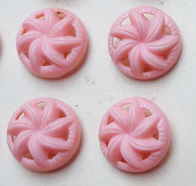 24 Amazing Vintage SWIRL Buttons -Choice of 7 Colours + 2 Sizes