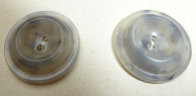 Vintage Marbled Grey Buttons- 2.2cm or 1.8cm- 24 on Card