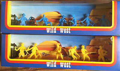 1970s Slovenian MEHANOTEHNIKA Wild West Boxed Cowboys Unused Old Shop Stock