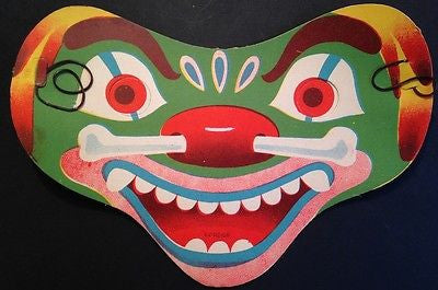 1930s Paper Carnival Masks -Made in Japan - 13 Different - ALL Brilliant