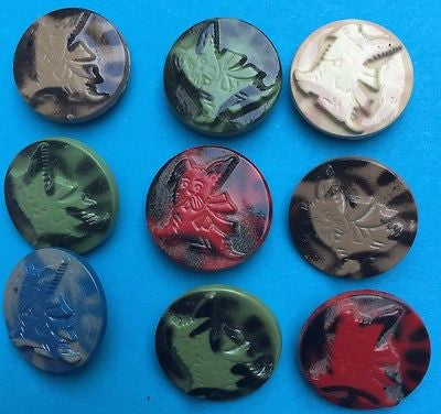 Vintage Italian 18mm Scottie Dog Buttons - Choice of Colours