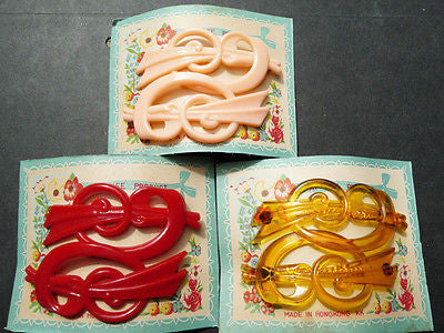 2 Stunning yet Effective Vintage Hair Clips -Choose from 3 Colours