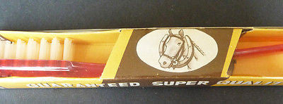 "Horse & Horseshoe Empire Made ""PACIFIC"" TOOTHBRUSH in Box"