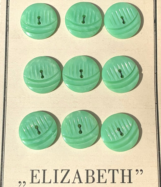 Reassuring 1940s Pastel Casein Buttons - 2.2 or 1.5cm wide